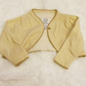 Baby girl gold sweater 9 mos.